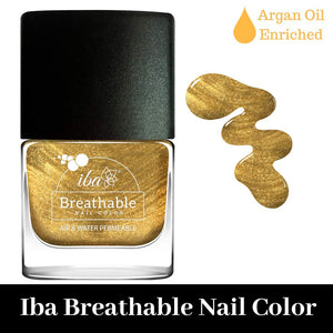 B23 Gold Sparkle - IBA Halal Nail Color Polish Breathable Air and Water Permeable Wuzu Friendly