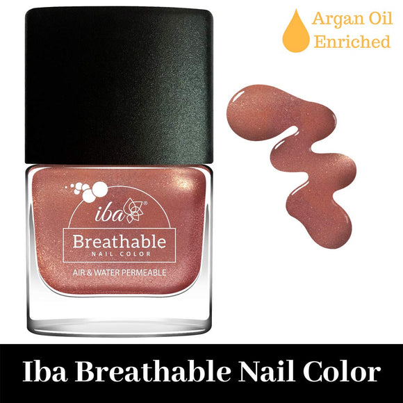 B24 Rose Gold - IBA Halal Nail Color Polish Breathable Air and Water Permeable Wuzu Friendly