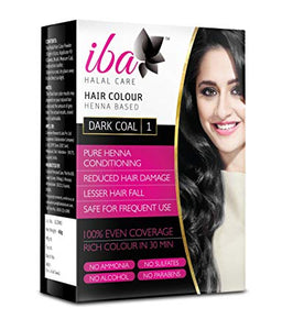 IBA Halal Hair Color (Dark Coal / Dark Brown) Heena Based