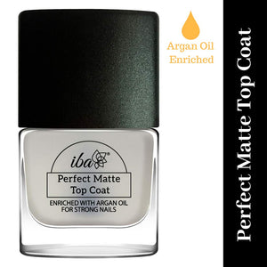 Top Coat - Matte - IBA Halal Nail Color Polish Breathable Air and Water Permeable Wuzu Friendly