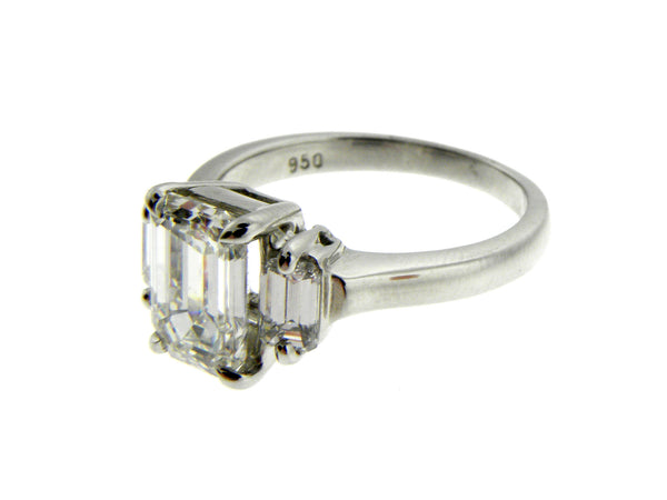 Custom Made 1.78ct. Emerald Cut Diamond Platinum Ring