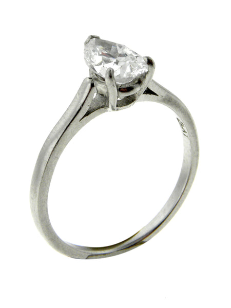 Cartier .75ct. Diamond Platinum Solitaire Ring