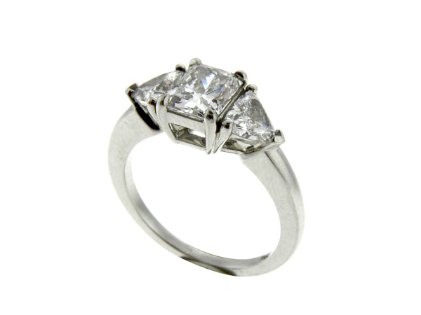 Custom Made 1.03ct. Radiant Cut Diamond Platinum Ring