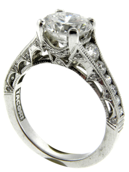 Tacori 1.75ct. Round Diamond Platinum Ring