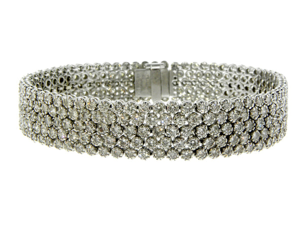 Diamond Honeycomb Pattern Tennis Bracelet