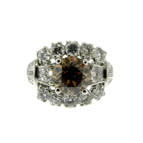 Platinum 2 Carat Chocolate Diamond Ring
