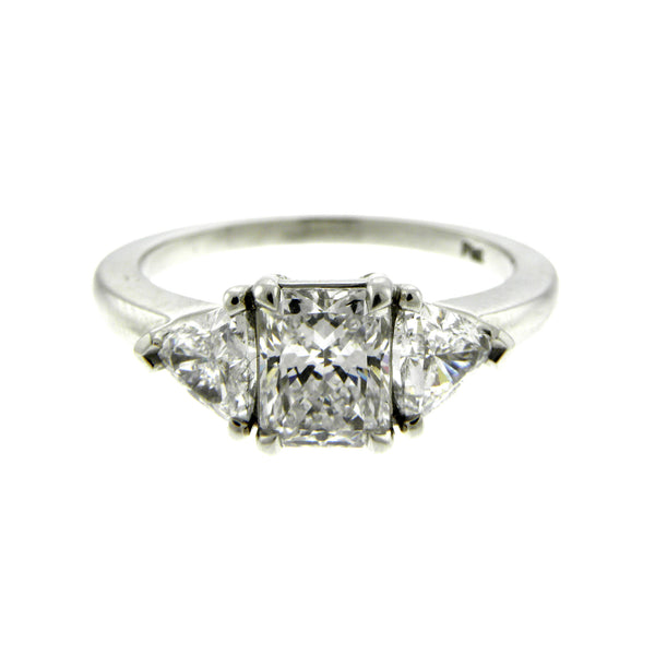 Diamond Radiant & Trillion Three Stone Ring