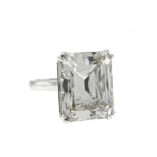24.13 Carat Lustrous Cut Diamond Ring