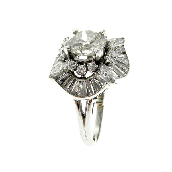 1.65ct. Old European Cut Ballerina Style Ring