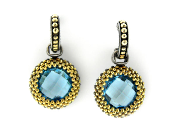 Lagos Swiss Blue Topaz Earrings