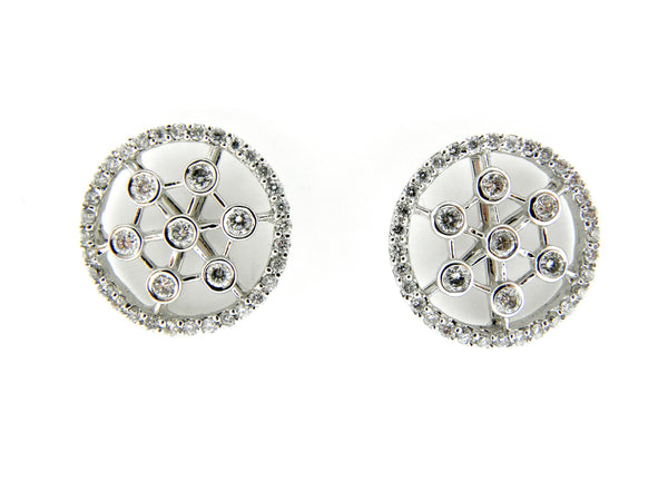 Diamond Wheel Earrings