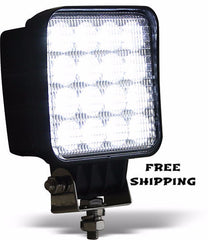 16 Clear LEDs, Square Flood Light. Buyers # 1492128