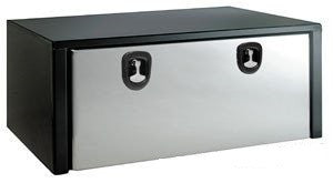 Buyers Steel underbody box with stainless steel door.