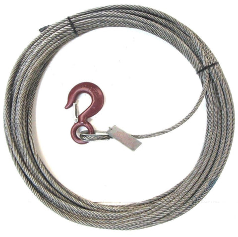 "3/8"" Steel Core, Winch Cable, Standard Hook"