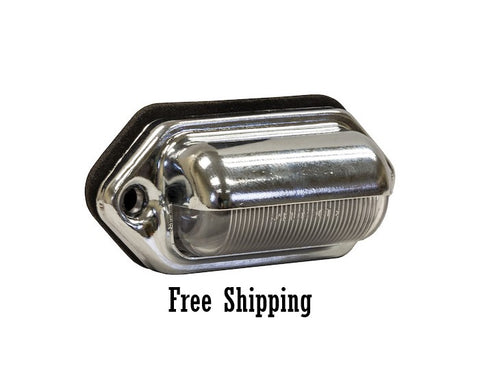 Oval License Plate Light