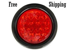 "4"" Red Round STT 18 LEDs"