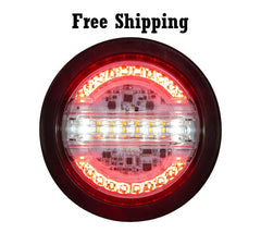 "4"" Round LED Combo STT, Backup, and Amber Strobe Light"