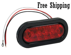 "6-1/2"" Red Oval STT 10 LEDs"
