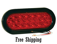 "6-1/2"" Red Oval STT 20 LEDs"