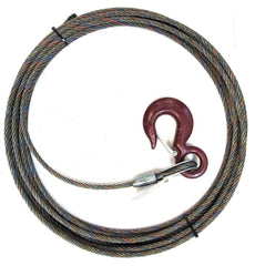 "7/16"" Steel Core, Winch Cable, Standard Hook"
