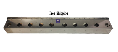 Vertical Mount Aluminium 10 Hole Fork Storage Rack 47.5""