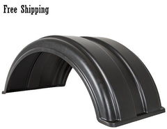 "Buyers Full Radius Poly Fender Kit 16.5"" with Mounting Brackets"
