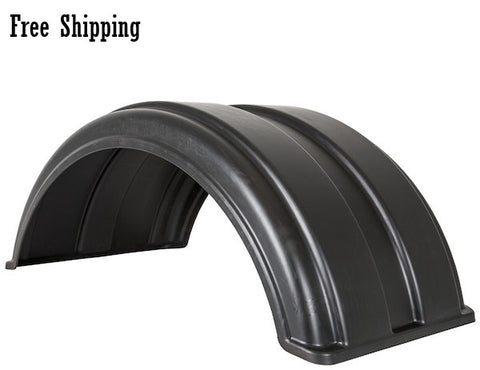 "Buyers Full Radius Poly Fender Kit 19.5"" with Mounting Brackets"