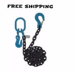 Chain with Slip Hook; Cradle Grab Hook & Oblong  1/2""