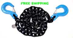 "G100 3/8"" Chain with Slip Hooks, 10',15',20'"
