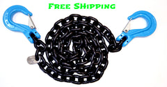 "G100 5/16"" Chain with Slip Hooks, 10' 15' & 20'"