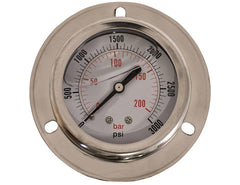 Pressure Gauge Panel Mount 3000 Max PSI