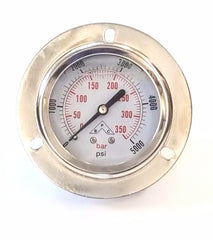 Pressure Gauge Panel Mount 5000 Max PSI
