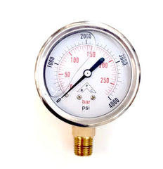 "Pressure Gauge 1.5"" Dial Panel Mount HPGS4 Buyers"