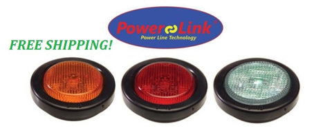 "Towmate 2.5"" round marker/flasher combo LED Lights. 25-PLC25"