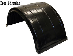 "Buyers Ribbed Poly Fender Kit 24.5"" with Mounting Brackets"