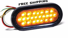 "6-1/2"" Amber Oval LED Strobe Light, SL65AO"