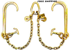 "Grade 70 V Chain 15"" J and H Hooks"