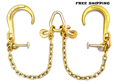 "Grade 70 V Chain 8"" J and T Hooks"