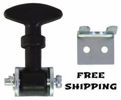 "2-1/2"" Miniature Rubber Hood Catch with Bracket, Set of 2, Buyers #WJ202"
