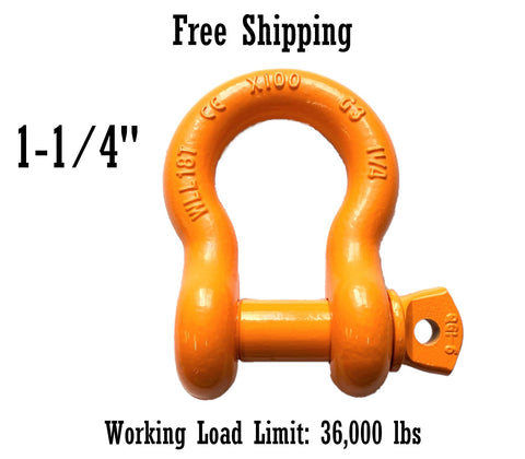 All Alloy Screw Pin Anchor Shackle 1-1/4""