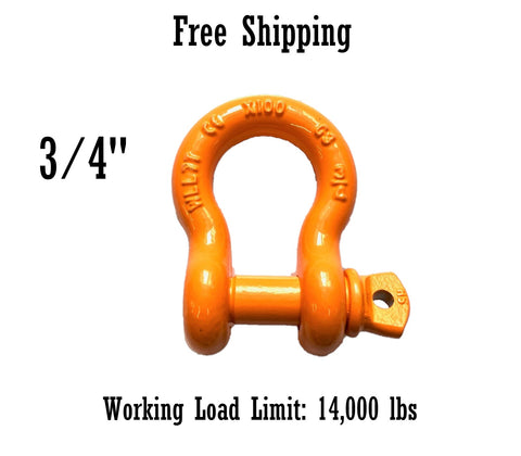All Alloy Screw Pin Anchor Shackle 3/4""