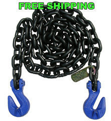 "G100 5/8"" Chain with Cradle Grab Hooks. 10', 15' & 20'"
