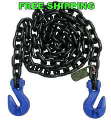 "G100 3/8"" Chain with Cradle Grab Hooks. 10', 15' & 20'"