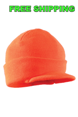 Orange Visor Cap, Set of Six