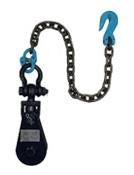 "8 Ton Snatch Block 6"" Sheave Import with Shackle, Chain, and Grab Hook"