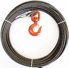 "7/16"" Steel Core, Winch Cable, Swivel Hook"