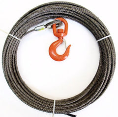 "3/8"" Steel Core, Winch Cable, Swivel Hook"