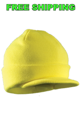 Yellow Visor Cap, Set of Six