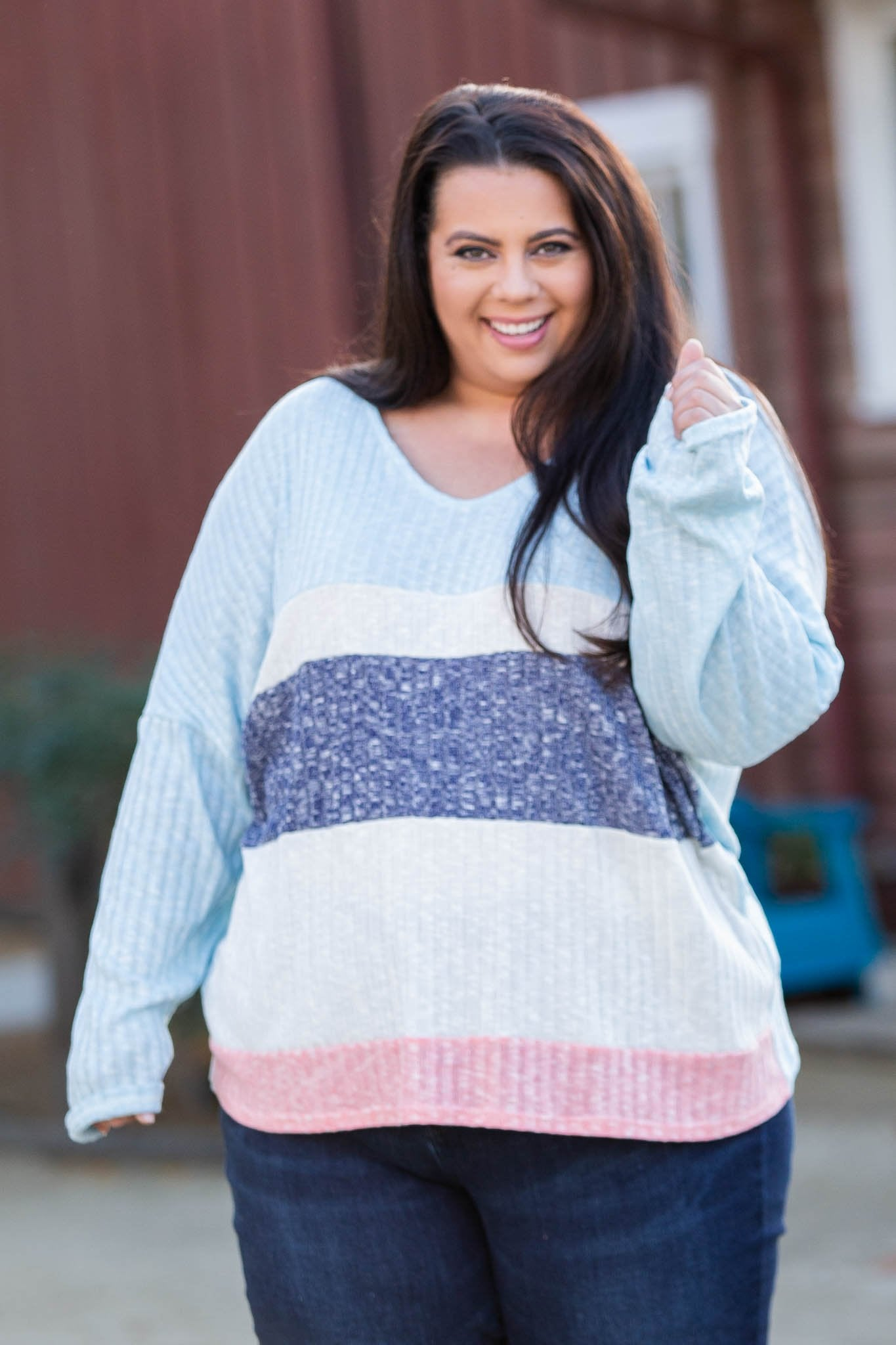 Sweet Horizons Color Block Top