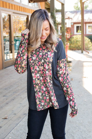 Flower Gazing Long Sleeve Top
